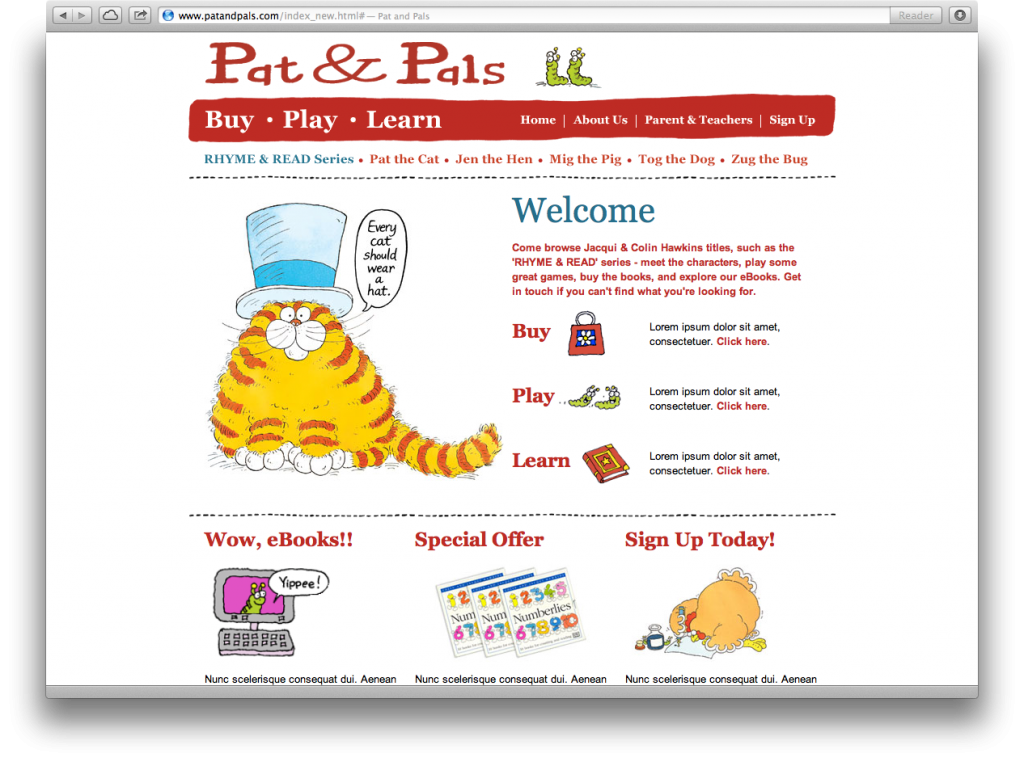 Pat & Pals website
